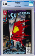 Modern Age (1980-Present):Superhero, Superman #75 Third Printing (DC, 1993) CGC NM/MT 9.8 Off-white to white pages....