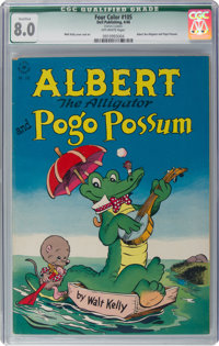 Four Color #105 Albert the Alligator and Pogo Possum (Dell, 1946) CGC Qualified VF 8.0 Off-white pages