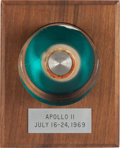 Explorers:Space Exploration, Apollo 11 Flown Large Ablative Plug in Lucite Display on Wooden Base Directly From The Armstrong Family Collection™, CAG Certi...