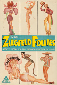"Ziegfeld Follies (MGM, 1945). Folded, Fine/Very Fine. Australian One Sheet (27"" X 40"") George Petty Artwork..."