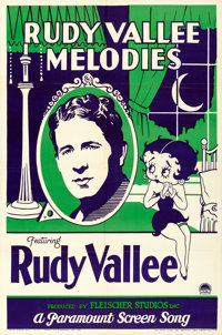 """Betty Boop: Rudy Vallee Melodies (Paramount, 1932). Folded, Very Fine-. One Sheet (27"""" X 41"""")"""