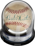 Baseball Collectibles:Balls, 1940's Babe Ruth Single Signed Baseball, Beckett Auto 9....