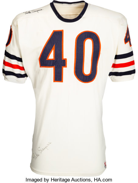 size 40 6b94b 21e7d Late 1960's Gale Sayers Game Worn & Signed Chicago Bears Jersey, MEARS  A10....