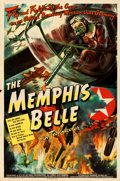 "Movie Posters:War, The Memphis Belle (Paramount, 1944). Folded, Fine+. One Sheet (27"" X 41""). From the collection of Leonard and Alice Maltin..."
