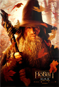 """The Hobbit: An Unexpected Journey (New Line, 2012). Mint. Lenticular One Sheets (2) (27"""" X 40"""") Gandalf &..."""