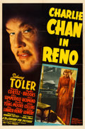 "Charlie Chan in Reno (20th Century Fox, 1939). Folded, Fine+. One Sheet (27"" X 41"")"