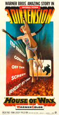 """Movie Posters:Horror, House of Wax (Warner Brothers, 1953). Fine/Very Fine on Linen. Three Sheet (41"""" X 79""""). 3-D Style. . ..."""
