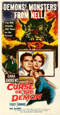 Movie Posters:Horror, Curse of the Demon (Columbia, 1957). Fine/Very Fine on Lin...