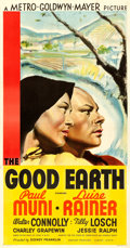 Movie Posters:Drama, The Good Earth (MGM, 1937). Very Fine- on Linen. T...