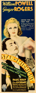 Movie Posters:Mystery, Star of Midnight (RKO, 1935). Folded, Fine+. Inser...
