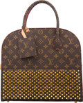 "Luxury Accessories:Bags, Louis Vuitton x Christian Louboutin Limited Edition ""Celebrating Monogram"" Shopping Tote Bag. Condition: 3. 12.5"" Widt..."