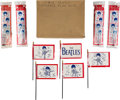 Music Memorabilia:Memorabilia, The Beatles Bicycle Flags (5 Sets) and Original Box (1964).. ...