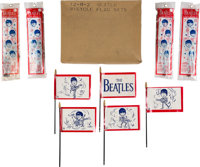 The Beatles Bicycle Flags (5 Sets) and Original Box (1964)