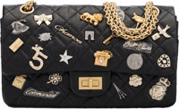 "Chanel Black Aged Quilted Lambskin Leather Lucky Charms 2.55 Reissue Flap Bag Condition: 1 9.5"" W"