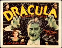 "Dracula (Universal, 1931). Very Fine-. Title Lobby Card (11"" X 14"")"