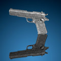 Meteorites:Irons, Model 1911 Meteorite Pistol . Iron, IVA. Northern Sweden - (67° 48'N, 23° 6'E). Found: 1906. ...