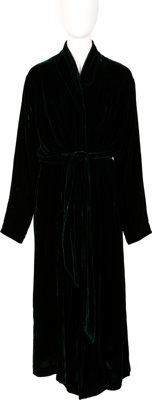 Farrah Fawcett Owned Dark Green Pamela Barish Robe