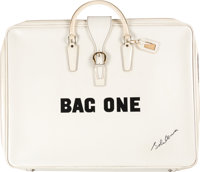 John Lennon Bag One Original White Portfolio Bag with Lithographs Erotic #3 and Front Page (1970). ... (Total: 3 Items)