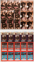 Music Memorabilia:Memorabilia, Willie Nelson Various Printer's Proofs for Backstage Passes (circa 1990s and 2000s). . ...