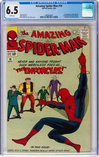 The Amazing Spider-Man #10 (Marvel, 1964) CGC FN+ 6.5 White pages