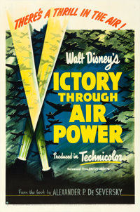 "Victory Through Air Power (United Artists, 1943). Very Fine- on Linen. One Sheet (27.25"" X 41"")"