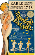 "Movie Posters:Musical, Moonlight and Pretzels (Universal, 1933). Fine/Very Fine. Die-Cut Window Card (13.5"" X 21"").. ..."