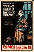 Movie Posters:Mystery, Sherlock Holmes (1930). Fine/Very Fine. Theater Wi...