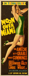 "Movie Posters:Musical, Moon Over Miami (20th Century Fox, 1941). Very Fine-. Insert (14"" X 36"").. ..."