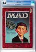 Magazines:Mad, MAD #30 (EC, 1956) CGC VF 8.0 Off-white to white pages....