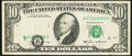 Shifted Black Portion of Third Printing Error Fr. 2027-B $10 1985 Federal Reserve Note. Very Fine