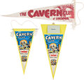 Music Memorabilia:Memorabilia, The Beatles Cavern Club Pennants (circa 1960s). . ...