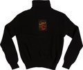 Music Memorabilia:Costumes, The Beatles Black Knit Sweater With Fan Club Flyer (circa mid-1960s). . ...