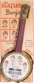 Music Memorabilia:Memorabilia, The Beatles Toy Banjo on Backing Card (Mastro Industries, 1964). . ...