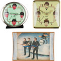 Music Memorabilia:Memorabilia, The Beatles Clocks (3).. ... (Total: 3 Items)