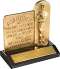 Movie/TV Memorabilia:Memorabilia, Buddy Adler Academy Award Tablet Presented to MGM For Best Short Subject With Photos and Letters. . ...