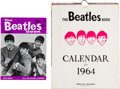 Music Memorabilia:Memorabilia, The Beatles Book Calendar and Beatles Book # 1 Limited Re-issue (circa mid-1964/1976). . ... (Total: 3 Items)