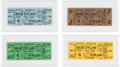 Music Memorabilia:Tickets, Bob Dylan Collection of Unused Syria Mosque Tickets (4) (1966). .... (Total: 4 Items)