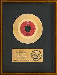 "Queen ""Crazy Little Thing Called Love"" RIAA Gold Sales Award (Elektra, 1979)"