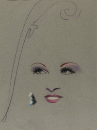 Mae West Original Pastel Drawing Used as the Cover Art for Her Album Great Balls of Fire (19