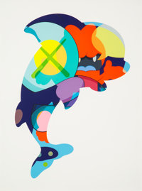 KAWS (American, b. 1974) Piranhas When You're Sleeping, 2016 Silkscreen in colors on paper 60 x 46 inches (152.4 x 11
