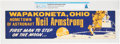 """Wapakoneta, Ohio Hometown of Astronaut Neil Armstrong"" Vintage Large Bumper Sticker Directly From The Armstro..."