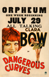 "Dangerous Curves (Paramount, 1929). Fine/Very Fine on Cardstock. Window Card (14"" X 22"")"