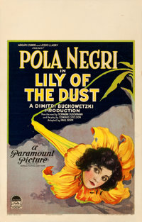 "Lily of the Dust (Paramount, 1924). Fine/Very Fine on Cardstock. Window Card (14"" X 22"")"