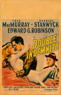 "Double Indemnity (Paramount, 1944). Fine on Cardstock. Window Card (14"" X 22"")"