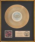 Music Memorabilia:Awards, Ray Parker Jr and Raydio Two Places at the Same Time RIAA Gold Sales Award (Arista, 1980). . ...