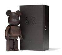 KAWS X BE@RBRICK NexusVII 400%, 2007 Wood 10-3/4 x 5 x 3-1/4 inches (27.3 x 12.7 x 8.3 cm) (toy) Edition of 400 Inc