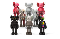 KAWS (American, b. 1974) Companion, set of eight, 2016 Painted cast vinyl 10-1/2 x 4-1/2 x 3-1/2 inches (26.7 x 11.4...
