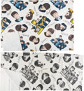 Music Memorabilia:Memorabilia, The Beatles Vinyl Tablecloth With Color Images And A Large Vinyl Sheet of Black and White Images (circa mid-1960s). . ...