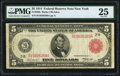 Fr. 833b $5 1914 Red Seal Federal Reserve Note PMG Very Fine 25