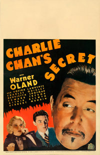 "Charlie Chan's Secret (20th Century Fox, 1936). Fine/Very Fine on Cardstock. Window Card (14"" X 22"")"